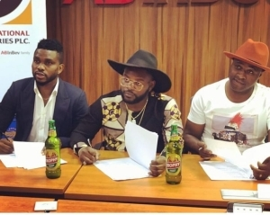Falz, Femi Adebayo, Joseph Yobo Bag An Endorsement Deal With Trophy Lager